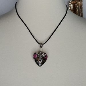 Glass blown heart Necklace